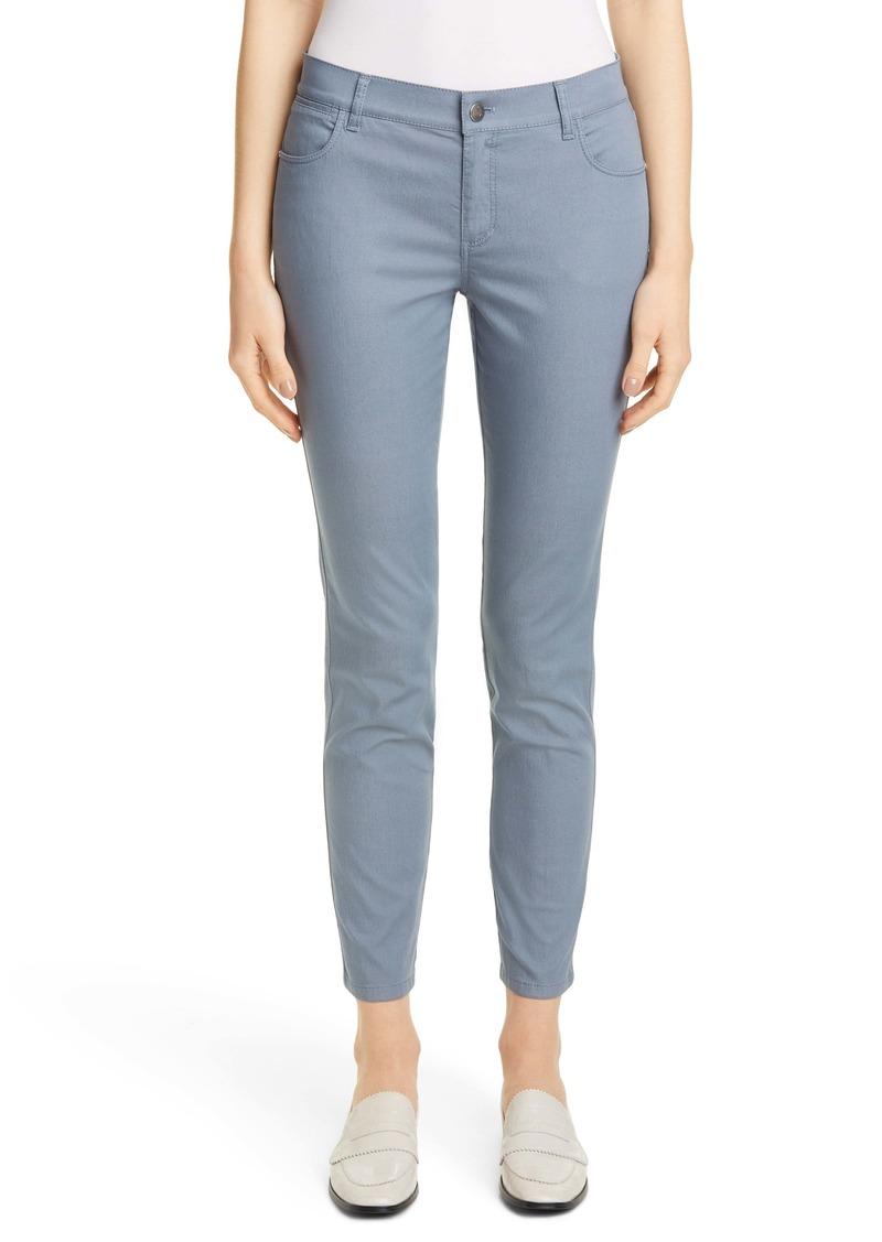 Lafayette 148 New York Mercer Skinny Jeans (Lily Pad)
