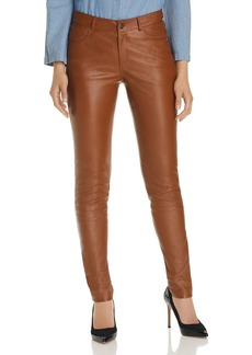 Lafayette 148 New York Mercer Skinny Leather Pants