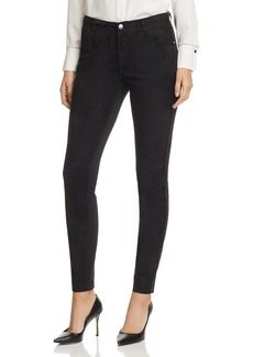 Lafayette 148 New York Mercer Suede-Front Skinny Pants