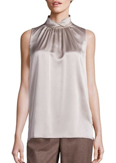 Lafayette 148 New York Mercy Silk Turtleneck Top