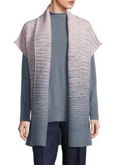 Lafayette 148 New York Merino Wool & Cashmere Rib-Knit Ombre Cardigan