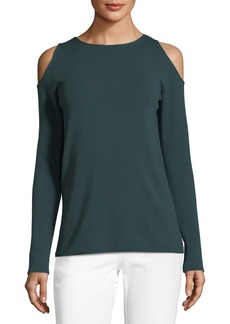 Lafayette 148 New York Merino Wool Cold-Shoulder Sweater
