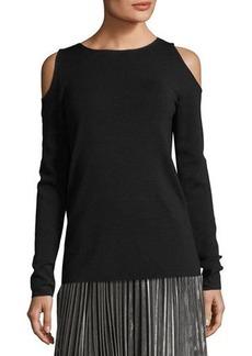 Lafayette 148 New York Merino Wool Cold-Shoulder Sweater