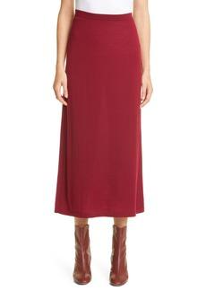 Lafayette 148 New York Merino Wool Midi Sweater Skirt