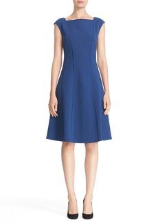 Lafayette 148 New York Merrow Stitch Fit & Flare Dress