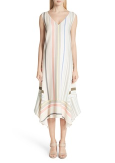 Lafayette 148 New York Mesa Stripe Midi Dress