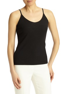 Lafayette 148 New York Mesh Jersey Camisole