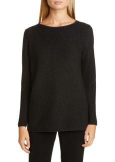 Lafayette 148 New York Metallic Cashmere Blend Sweater