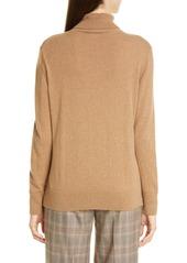 Lafayette 148 New York Metallic Cashmere Turtleneck Sweater