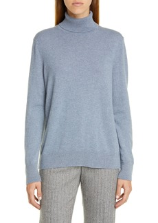 Lafayette 148 New York Metallic Cashmere Turtleneck Sweater