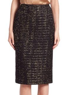 Lafayette 148 New York Metallic Tweed Pencil Skirt