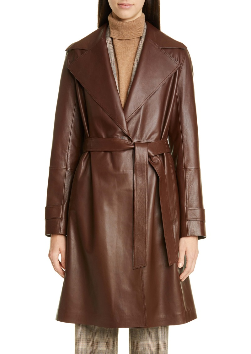 Lafayette 148 New York Michael Leather Trench Coat