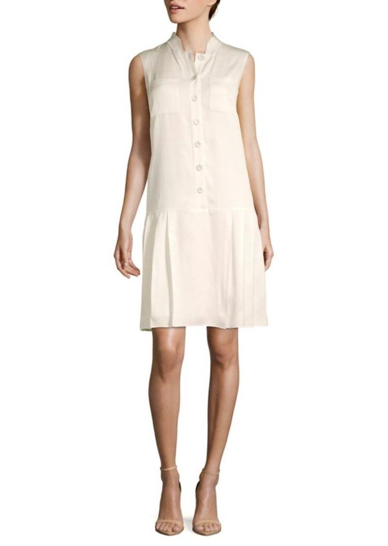 Lafayette 148 Minka Sleeveless Drop-Waist Dress