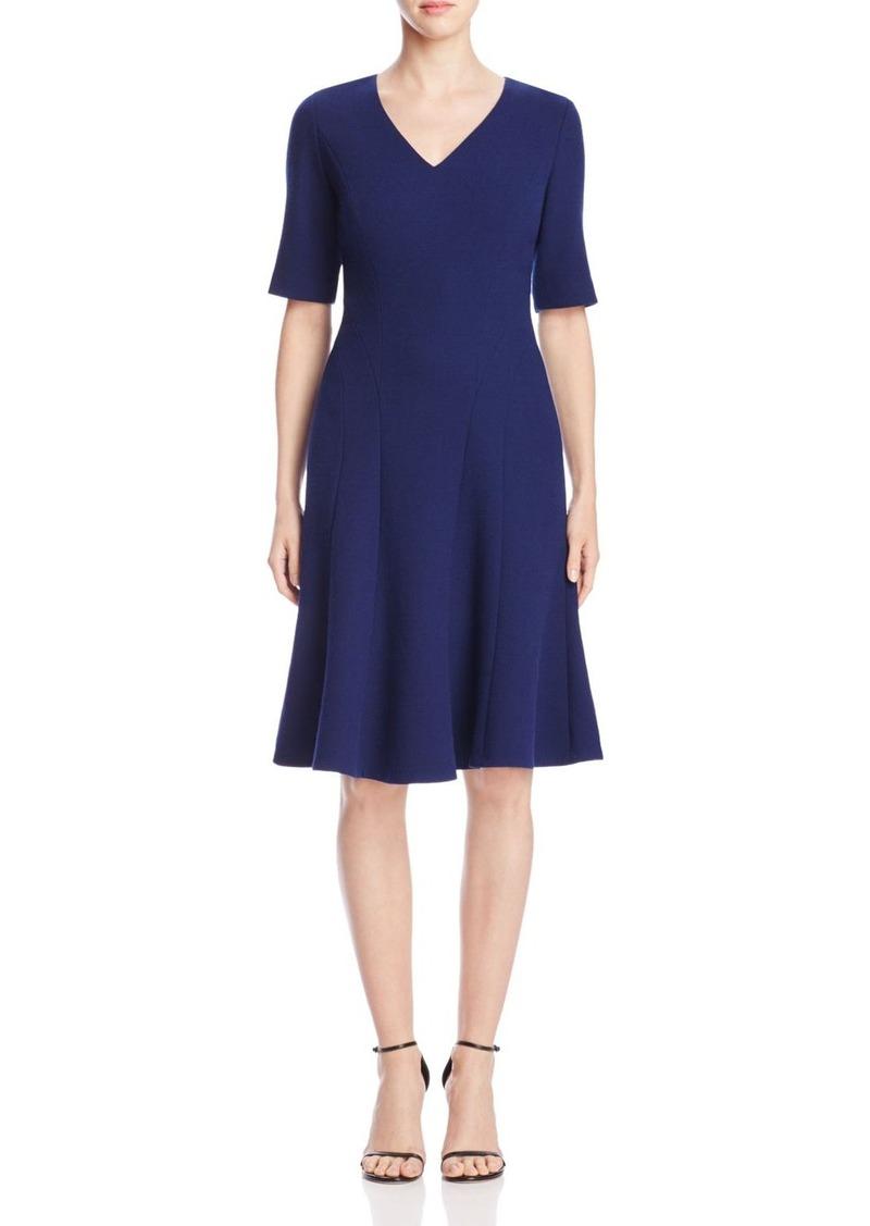 Lafayette 148 New York Mirasol V-Neck Wool Dress