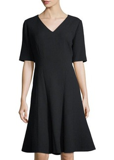 Lafayette 148 New York Mirasol Wool Fit-and-Flare Dress