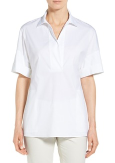 Lafayette 148 New York 'Mitra' Short Sleeve Blouse