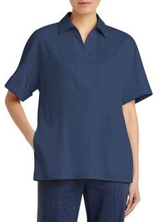 Lafayette 148 New York Mitra Spread-Collar Blouse
