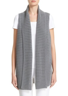 Lafayette 148 New York Mixed Stitch Sweater Vest