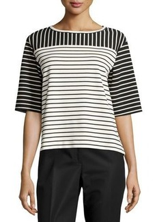 Lafayette 148 New York Mixed Stripe Top