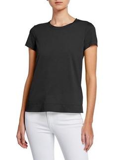 Lafayette 148 New York Modern Short-Sleeve Cotton Jersey Tee