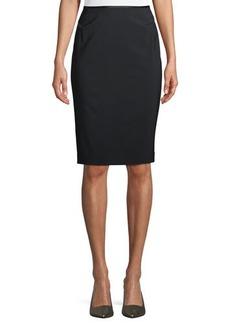 Lafayette 148 New York Modern Slim Crepe Skirt
