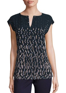 Lafayette 148 New York Moonlit Novelty Joanie Blouse