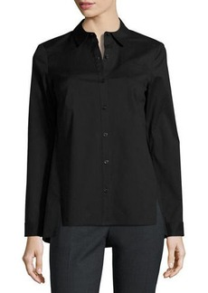 Lafayette 148 New York Morgan Button-Front Blouse
