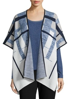 Lafayette 148 New York Mouline Merino Brushed Jacquard Cape