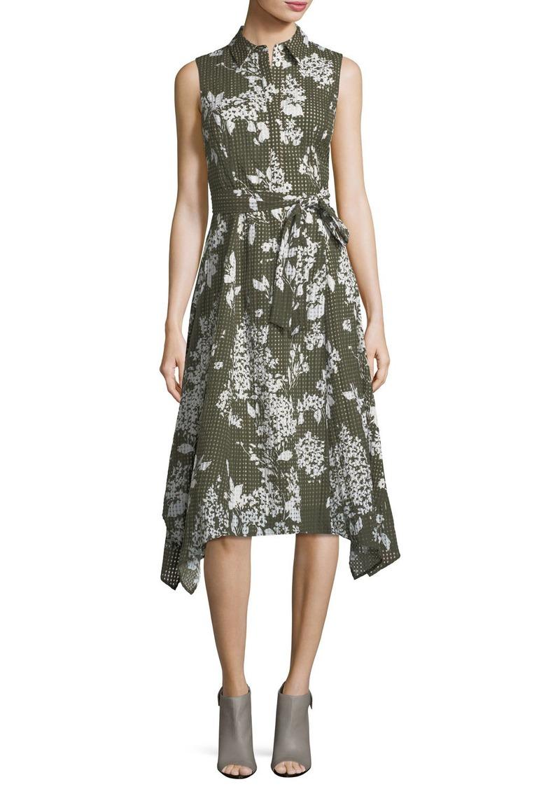 Lafayette 148 New York Moxie Exposed-Blooms Shirtdress