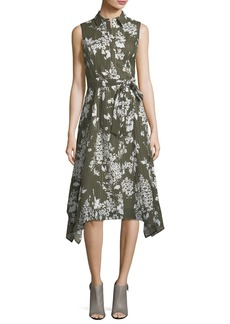 Lafayette 148 Moxie Exposed-Blooms Shirtdress