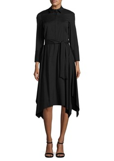 Lafayette 148 New York Moxie Tie-Waist Shirtdress