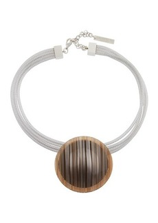 Lafayette 148 New York Multi-Strand Orb Pendant Collar Necklace