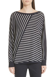 Lafayette 148 New York Multidirection Stripe Sweater