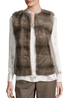 Lafayette 148 New York Murray Mink Fur & Cashmere Vest