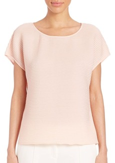 Lafayette 148 New York Nadette Accordion-Pleated Blouse