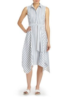 Lafayette 148 New York Nanette Stripe Cotton Dress