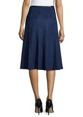 Lafayette 148 New York Nara A-Line Cashmere Skirt