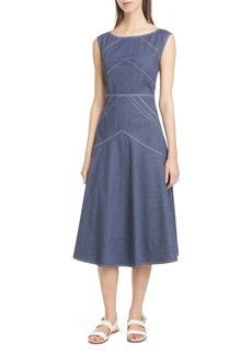Lafayette 148 New York Natasha Fit & Flare Midi Dress