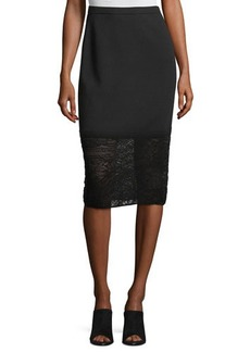 Lafayette 148 New York Needle Punch-Trim Pencil Skirt