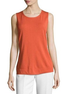 Lafayette 148 New York Needle-Stitch Knit Tank