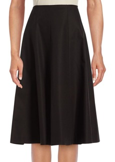 Lafayette 148 New York Nevada Pleated Cotton Blend Skirt