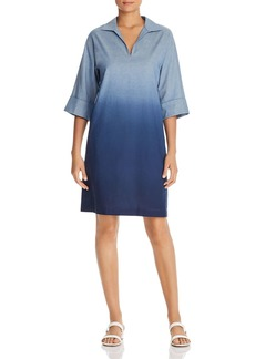 Lafayette 148 New York Nicole Dip-Dyed Dress
