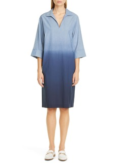 Lafayette 148 New York Nicole Ombré Chambray Shirtdress