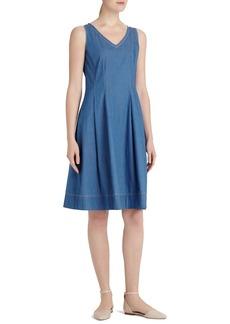 Lafayette 148 New York 'Noreen' V-Neck A-Line Dress
