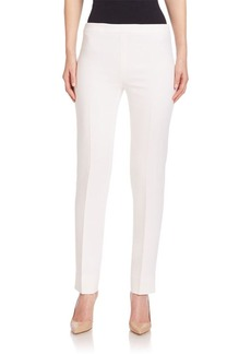 Lafayette 148 New York Nouveau Crepe Wool Bleecker Pants