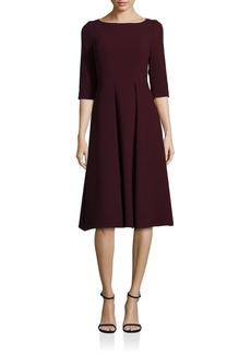 Lafayette 148 New York Nouveau Crepe Wool Mariam Dress