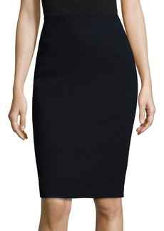 Lafayette 148 New York Nouveau Crepe Wool Pencil Skirt