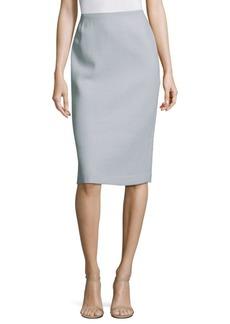 Lafayette 148 Nouveau Crepe Wool Pencil Skirt
