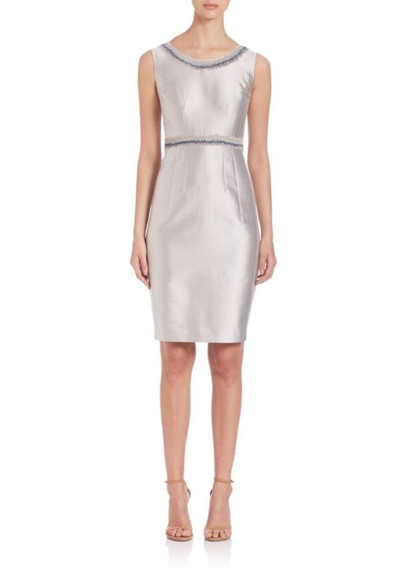 Lafayette 148 New York Nouveau Embellished Shantung Dress