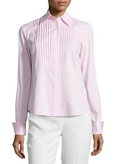 Lafayette 148 New York Nula Long-Sleeve Pleated Blouse